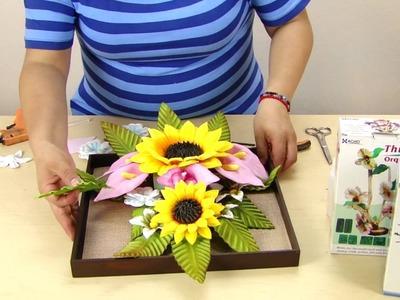 TUTO: Cuadro de Flores Girasoles Alcatraces Decoración Foamy