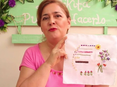 Bordado en cinta para principiantes 5.7 - Embrooidered  ribbons for beginners