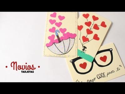 Cartas. Tarjetas Para Mi Novio Fáciles y Bonitas
