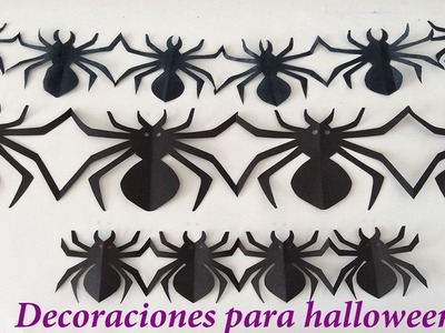 Como hacer arañas de papel, Como hacer arañas para Halloween, arañas