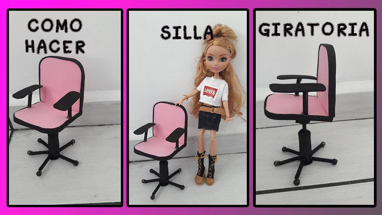 como hacer silla para escritorio de carton y foami muebles para muñecas