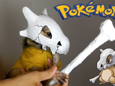 Disfraz de Cubone para mascota | Pokémon Cosplay