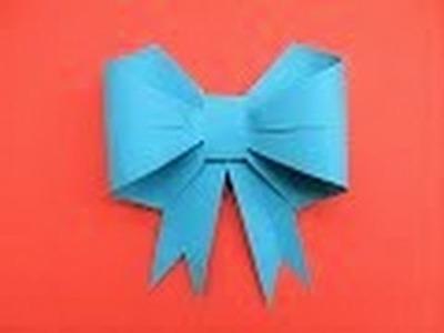 Lazo de papel - Como hacer una Lazo Mariposa de papel de Origami