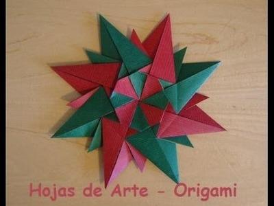 Manualidad: Estrella Modular de Diez Puntas en Origami - Hogar Tv  por Juan Gonzalo Angel