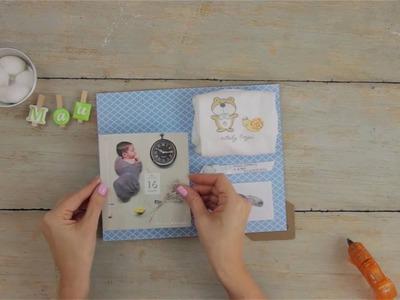 Marco con los recuerdos de tu recién nacido