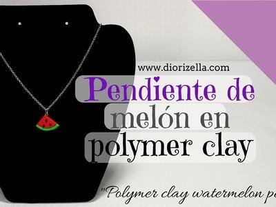 Pendiente de Melon Colaboración Notas glamour (Diorizella Events and Crafts)