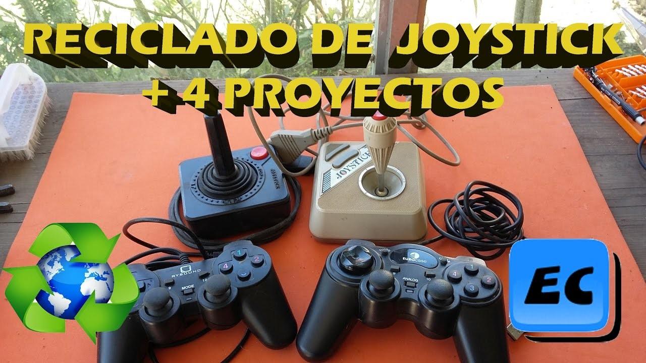 Reciclado de un joystick o gamepad y 4 ideas para usar sus partes