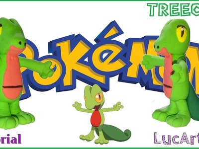 Treecko Pokémon con plastilina-porcelana fría. Pokemon Treecko  Polymer clay Tutorial