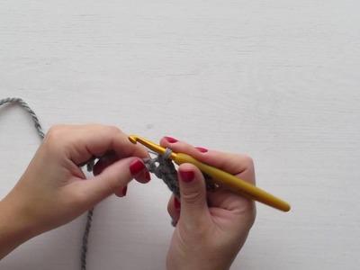 Tutorial: Crochet desde cero. Punto de cadeneta y punto bajo