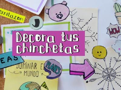 Cómo DECORAR CHINCHETAS y tips de ORGANIZACIÓN para la ESCUELA