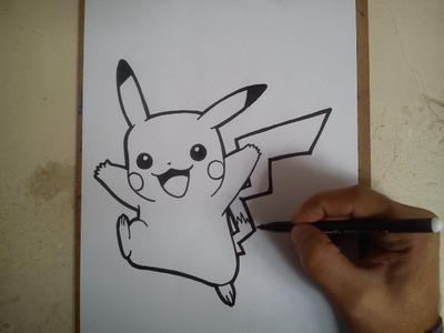 COMO DIBUJAR A PIKACHU - POKEMON GO!. how yo draw pikachu - pokemon go!