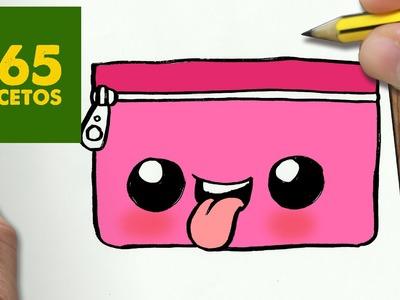 COMO DIBUJAR ESTUCHE KAWAII PASO A PASO - Dibujos kawaii faciles - How to draw a ESTUCHE