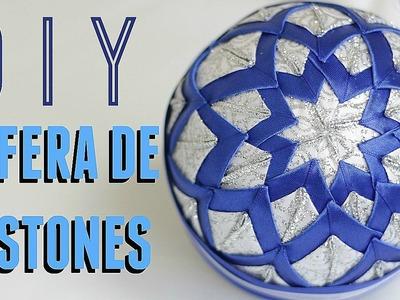 COMO HACER UNA ESFERA DE NAVIDAD, FACIL Y BARATA!.DIY PATCHWORK CHRISTMAS ORNAMENT