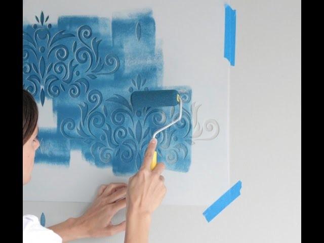 Cómo pintar paredes con plantillas y crear en efecto papel tapiz utilizando el sistema de registros