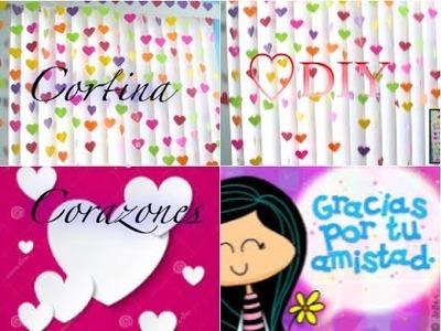 DIY Cortina De Corazones para Amor y Amistad DIY Heart curtain