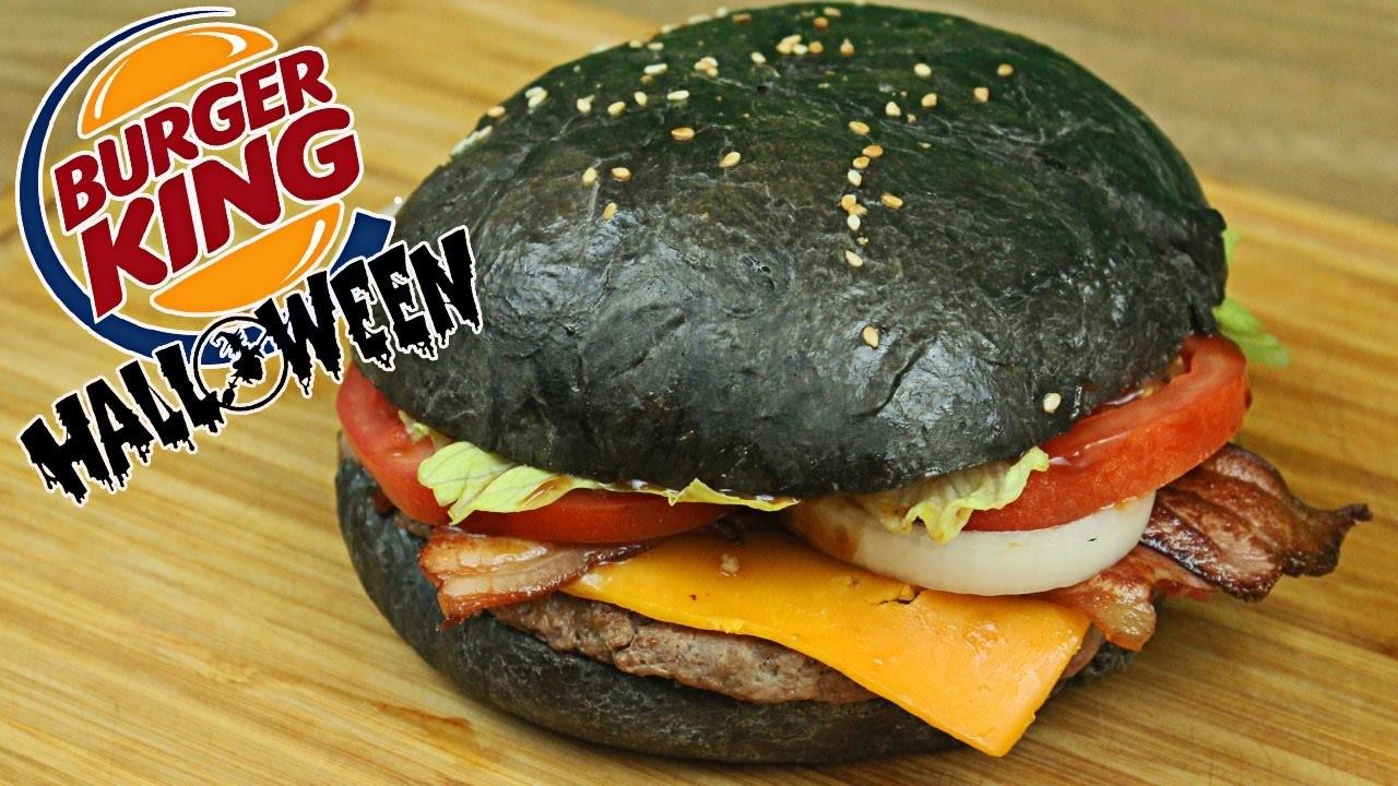 Hamburguesa Negra Burguer King Receta Halloween
