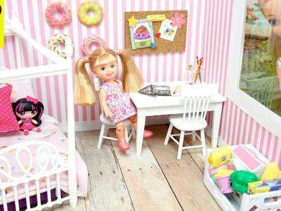 Hija de Rapunzel decora su Dormitorio - Las bebes de Elsa y Ana la visitan - Manualidades de Barbie