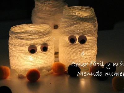 Ideas para decorar Halloween: velas de momia