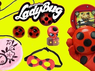 Juguetes de Prodigiosa Ladybug  - Bolso Marinette, Yoyo, Miraculous Aretes - Juguetes de Titi