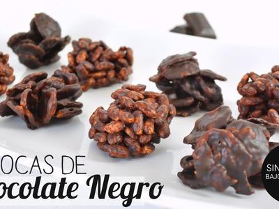Postres Saludables Sin Horno: Rocas de Chocolate Negro | 2 ingredientes |