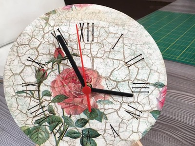 Reloj de pared con decoupage - 10.05.16