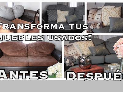 TRANSFORMA TU SALA USADA, FACIL Y RAPIDO, CON PINTURA CHALK.