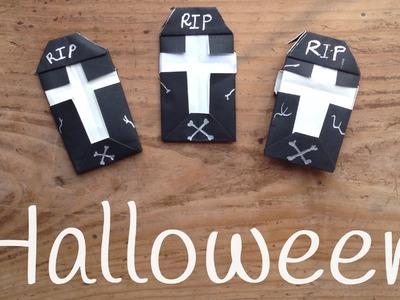 TUMBA de papel para Halloween | ORIGAMI fácil para niños