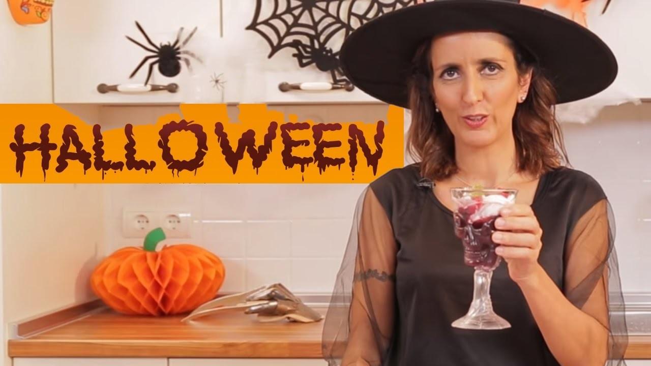 ZUMO SANGRIENTO - Recetas de Halloween fáciles para niños.