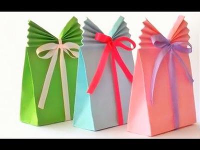 Bolsas de papel para regalo con decoracion facil y bonito