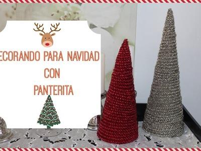 Christmas Pine cones| conos de pino para Navidad