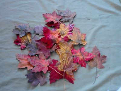 Como hacer hojas  de otoño con papel