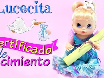 Cómo hacer un Certificado de Nacimiento de Juguete para tu Muñeca • Muñeca Baby alive