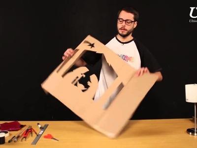 Cómo hacer un Pesebre vitral con material de reciclaje, con Plastilinarte