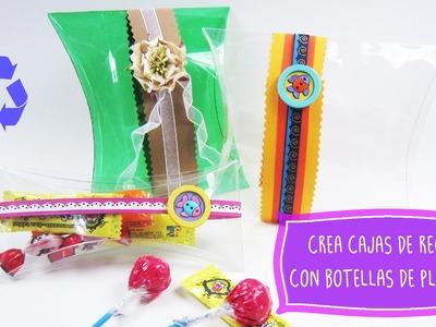 Crea una caja de #regalo con una botella de plastico ♻