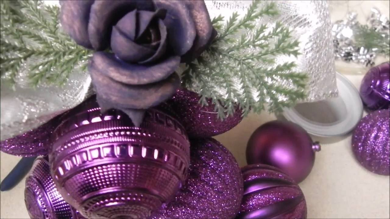 DIY: Manualidades para Navidad (Idea de decoracion con esfera  para el arbol)