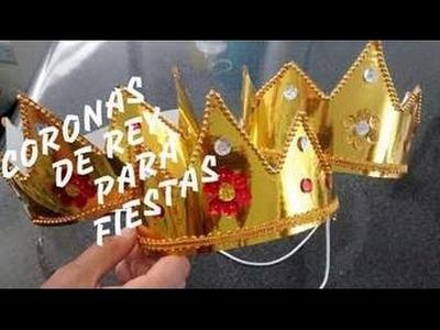 Gorros de coronas de reyes y principes para cumpleaños o celebraciones - Giany Fashion
