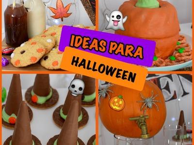IDEAS DULCES PARA HALLOWEEN !! (SNACKS SENCILLOS Y DELICIOSOS)