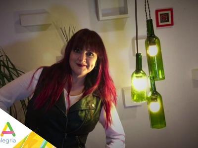 """Lámpara de botellas en """"Chuladas Creativas"""""""