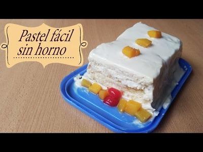 PASTEL FÁCIL SIN HORNO Y SIN MICROONDAS!!!. NO  BAKE - bt