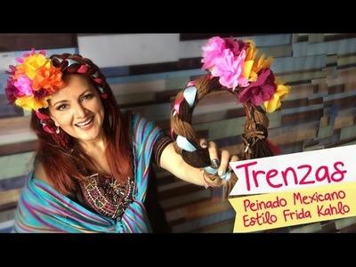 Peinado Mexicano estílo Frida Kahlo :: Trenzas Fáciles :: Chulads Creativas