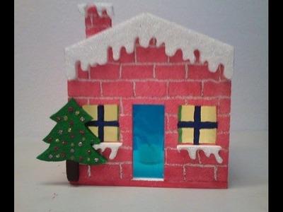 Casa Navideña - Casa para alumbrado Navideño (farol) 2da parte
