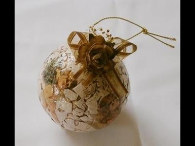 Como hacer  bolas navideña -vintage