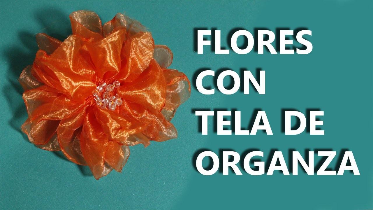 Como hacer flores con tela organza manualidades para - Manualidades faciles con tela ...