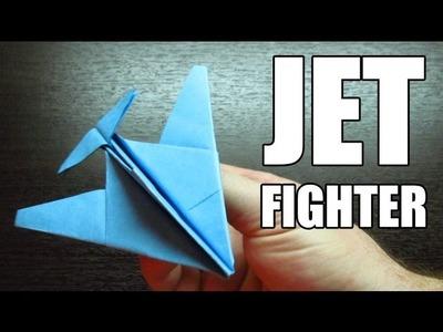 Como hacer un ULTRA JET FIGHTER con TURBOS | Aviones de papel paso a paso (Muy facil)