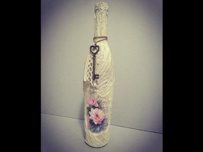 Cómo reciclar y decorar una botella vintage