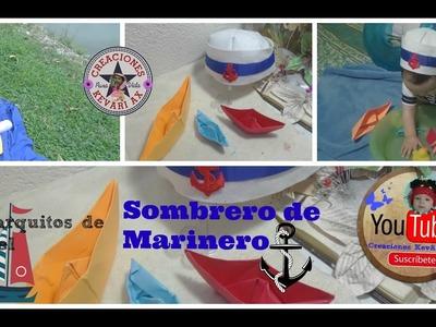 Gorro o Sombrero Fieltro de Marinero y Origami Barquitos de Papel