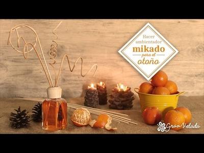 Hacer ambientdor mikado para el otoño