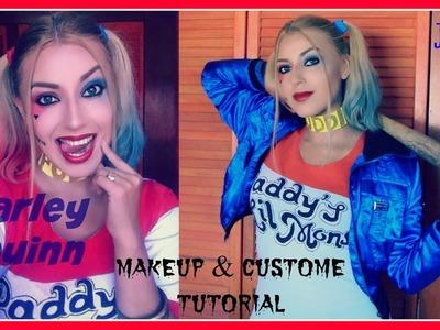 HARLEY QUINN MAQUILLAJE Y DISFRAZ | makeup & costume tutorial - Jossie