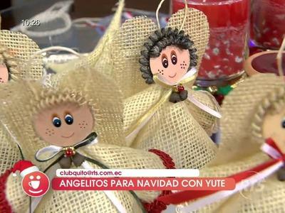 Hicimos angelitos con yute para navidad