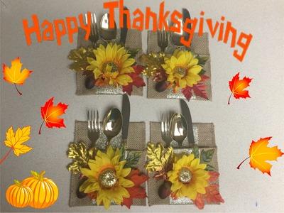 Manualidades de Porta cubierto para el Dia de  Accion de Gracias (Thanksgiving)